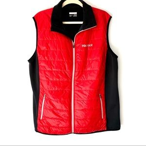 Marmot Red Polar Tech Stretch Vest XL